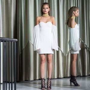 ASILIO white off the shoulder dress